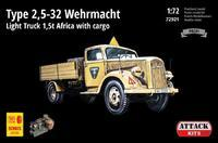 TYPE 2,5-32 Wehrmacht, light truck 1,5T AFRICA with cargo