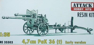 4,7CM PAK 36 (T) EARLY VERSION, RESIN 1/35