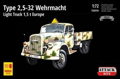 TYPE 2,5-32 Wehrmacht, light truck 1,5T EUROPE