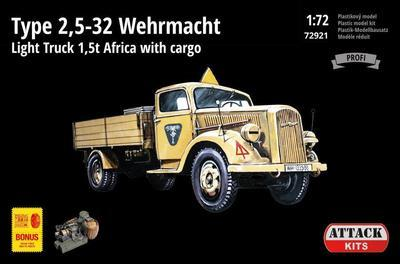 TYPE 2,5-32 Wehrmacht, light truck 1,5T AFRICA with cargo - 1