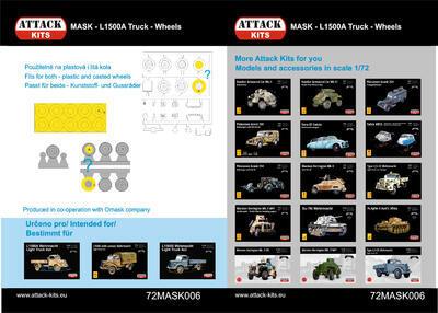 72MASK006 L1500 A/S Truck L1500 - wheels 1/72