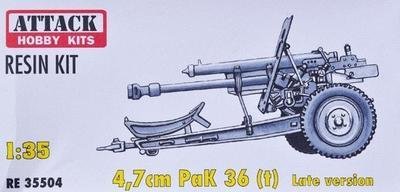 4,7CM PAK 36 (T) LATE VERSION, RESIN 1/35