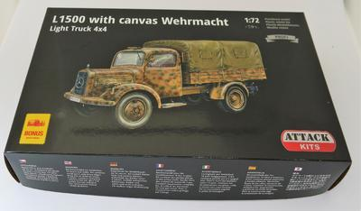 L1500A with canvas Wehrmacht Light Truck 4X4 - 2