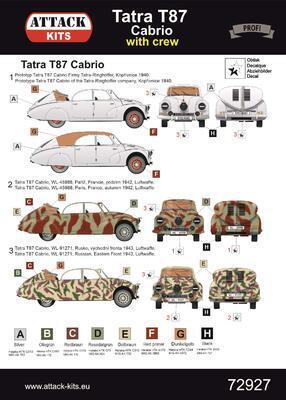 72927 Tatra 87 Cabrio with crew - 2