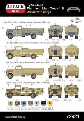 TYPE 2,5-32 Wehrmacht, light truck 1,5T AFRICA with cargo - 2